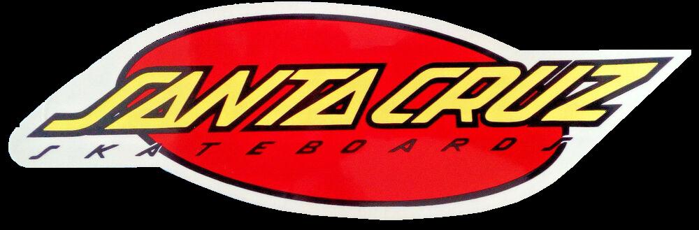 Santa Cruz Oval Strip Sticker Yellow Red x 1