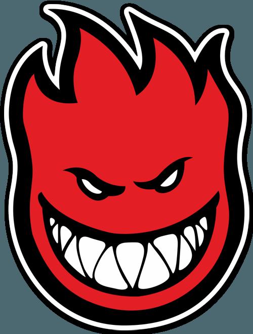 Sticker Spitfire red  MuralDecalcom