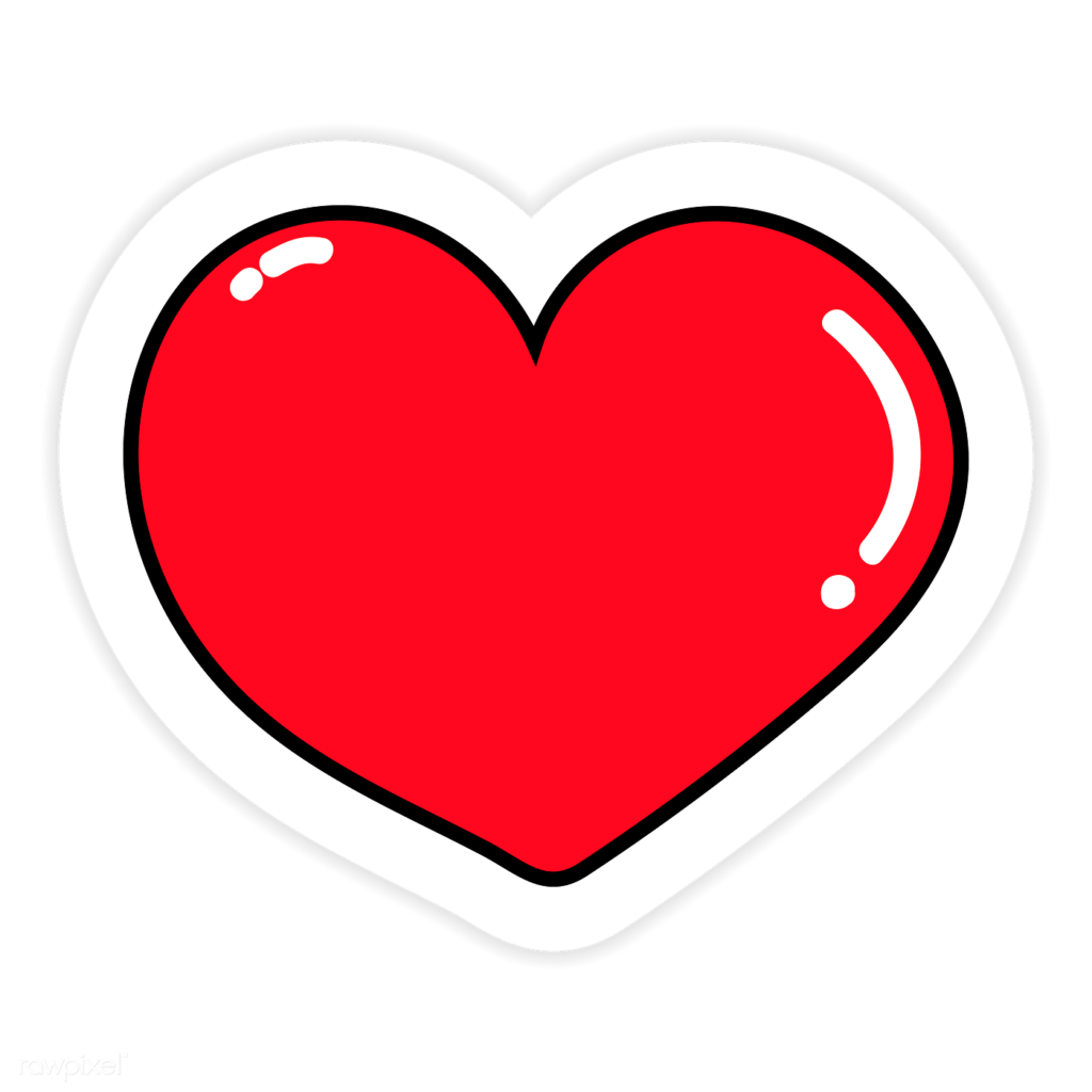 Red heart sticker png  Royalty free transparent png  2034501