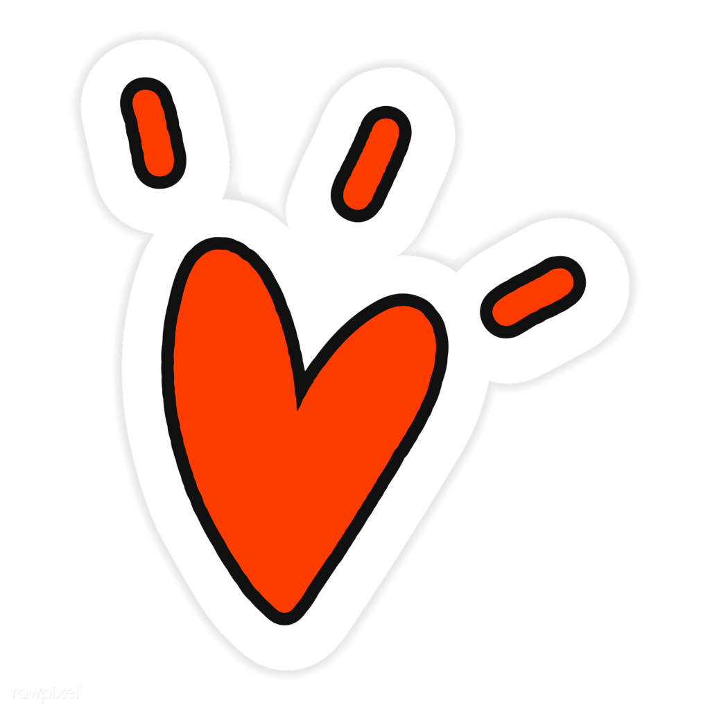 Red heart sticker png  Royalty free stock transparent png