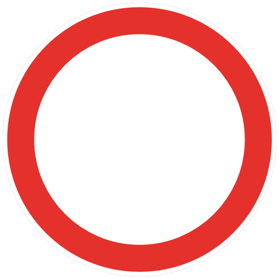 Red Circle Sign Sticker