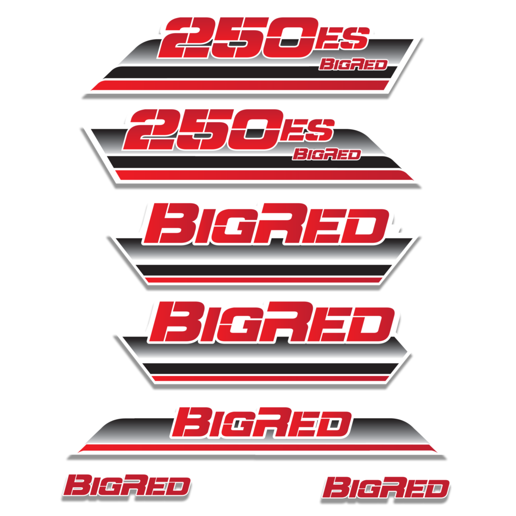 1985 Big Red 250ES Decal Graphics Kit  Assorted Colors