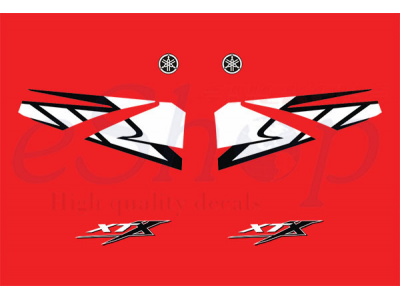 XT 660X 2004 2005 Red set  Eshop Stickers