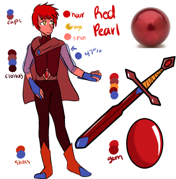 Red Pearl Custom by SeraphinaJade  Custom Pearls Red