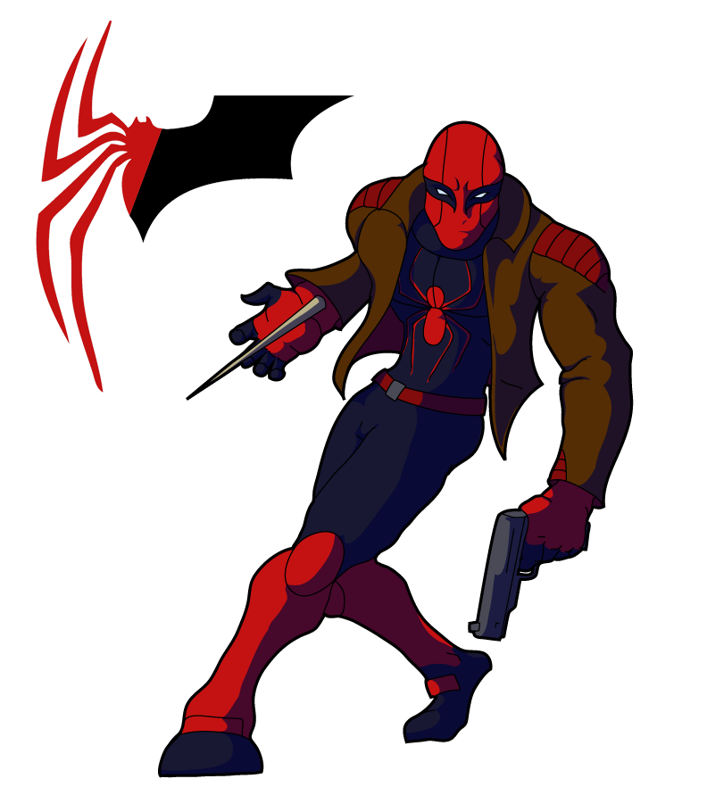 An amalgam of Red Hood and Scarlet Spider, inspired by ... - Red X Superhero