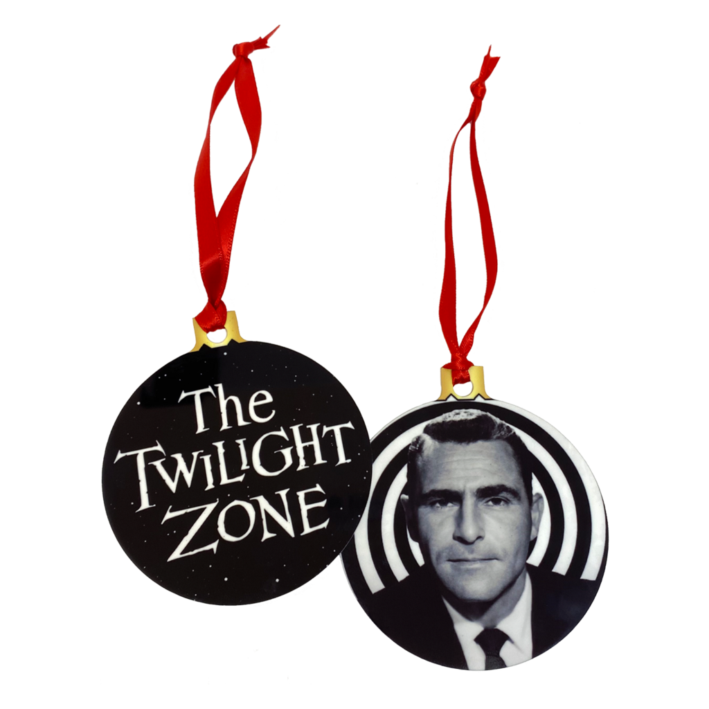 Twilight Zone 2Sided Holiday Ornament  UNMASKED
