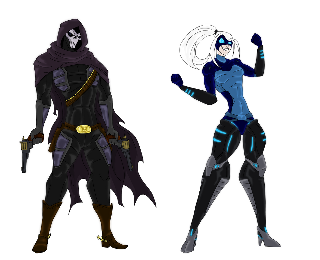 Blitz and Gunman Ghost DaErkka Universe by mrredx on