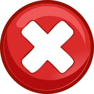 X Mark Clip Art at Clkercom  vector clip art online