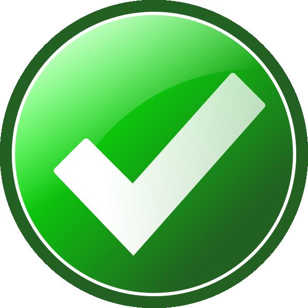 Green Checkmark Clip Art at Clkercom  vector clip art