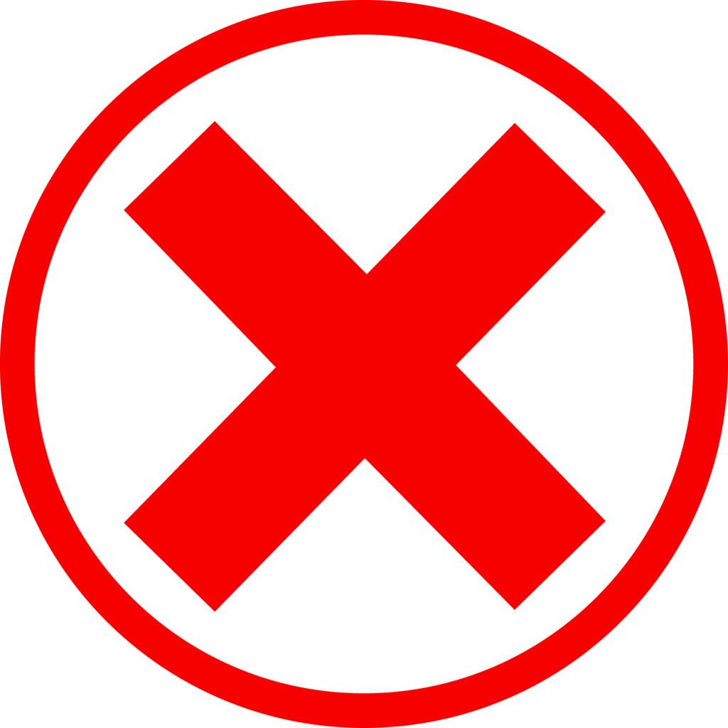 Red X Mark in Circle  Free Clip Art
