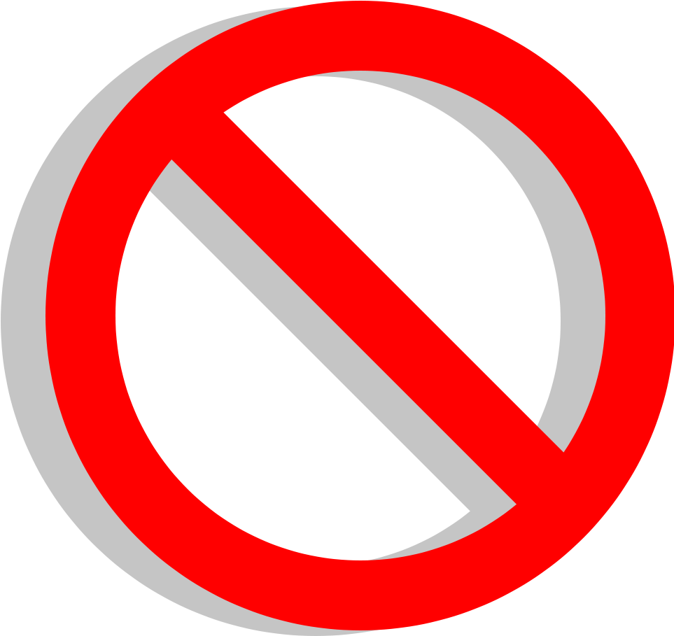 Clipart No Sign X  Red Circle With Line With Transparent