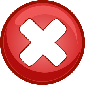 Red Cross X Clip Art at Clkercom  vector clip art online