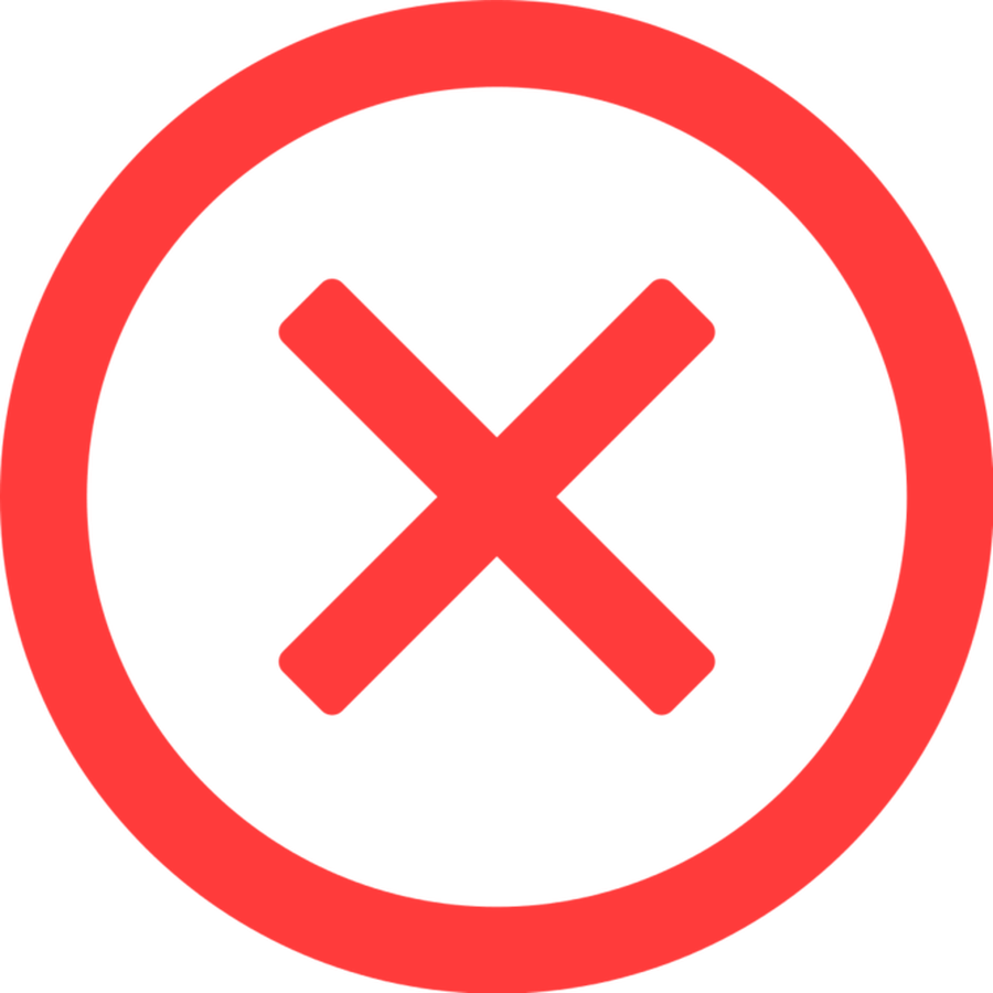 Circle X Clipart  Reject Icon  Png Download  Full Size
