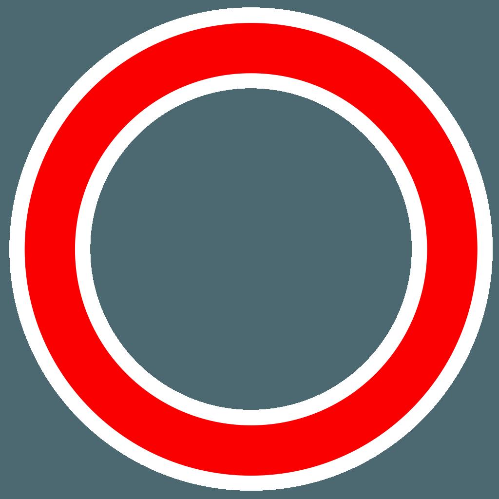 White with Red Circle X Logo  LogoDix