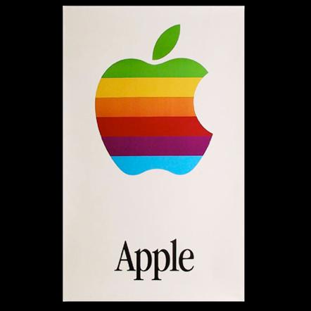 Vintage Apple Logo Poster  The Missing Bite