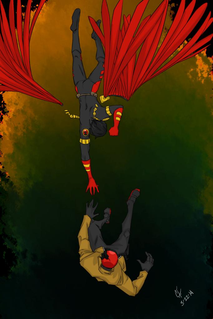 Falling by CassperClearie  Batman family Nightwing Tim