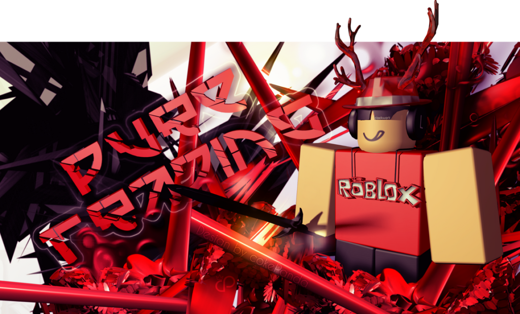 ROBLOX PureTrading thumbnail design by thisiscamel on