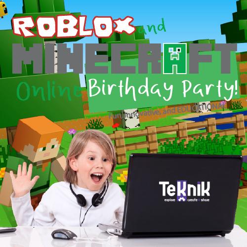 Minecraft or Roblox Birthday Party  TeKniK  Bricks 4 Kidz