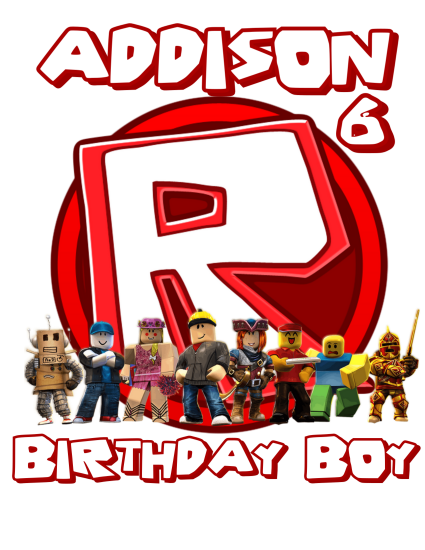 Roblox Birthday Party Shirts  Roblox Game Family Matching