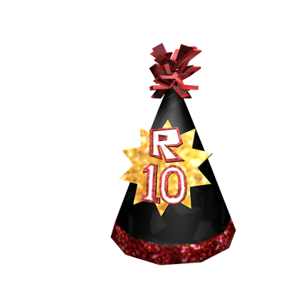 Customize an avatar with the ROBLOX 10th Anniversary Party