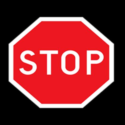 Transparent stop sign  Roblox