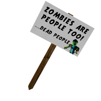 Roblox Protest Sign