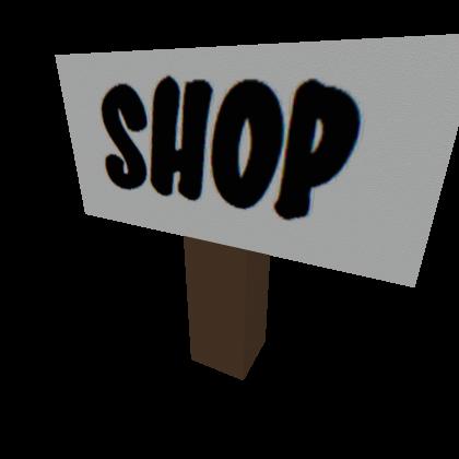 Shop Sign  Roblox