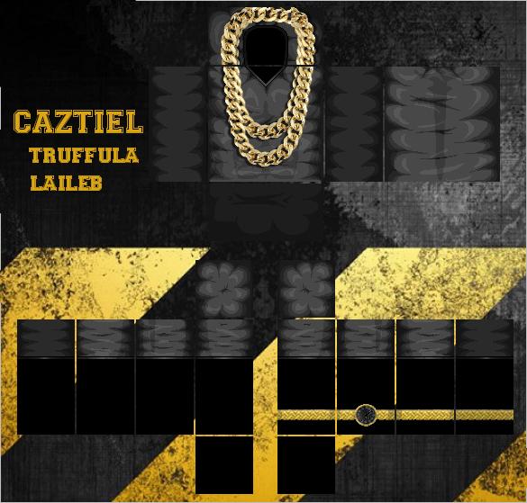 roblox Black TShirt w Gold Chain Gold Watch Tat