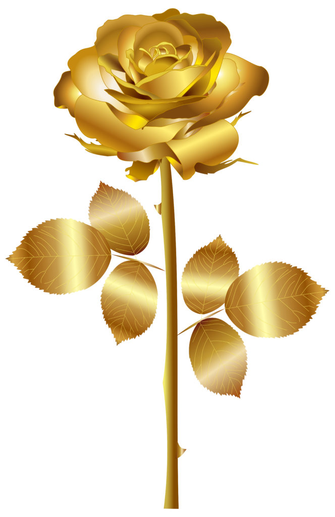 Clipart rose rose gold Clipart rose rose gold Transparent