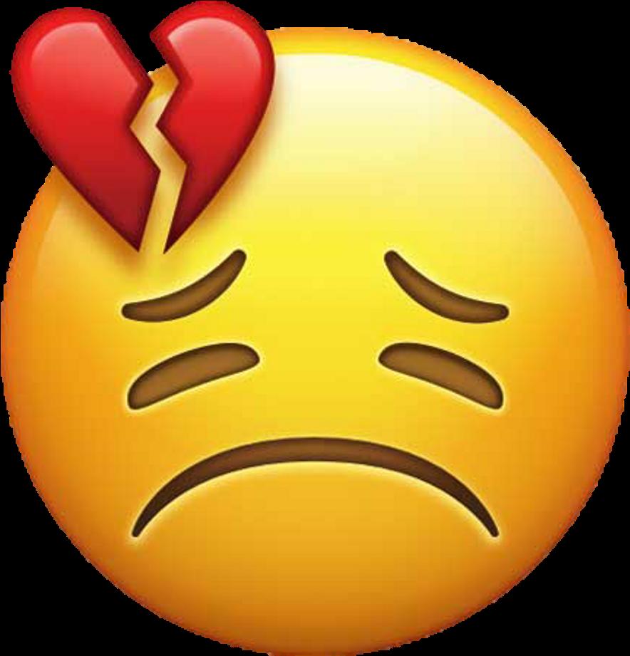 Emoji Broken Heart Love Smiley  Sad Love Broken Heart