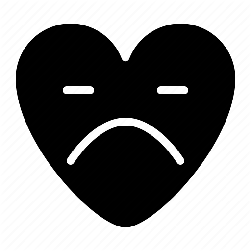 Emoji emotional heartbroken sad icon