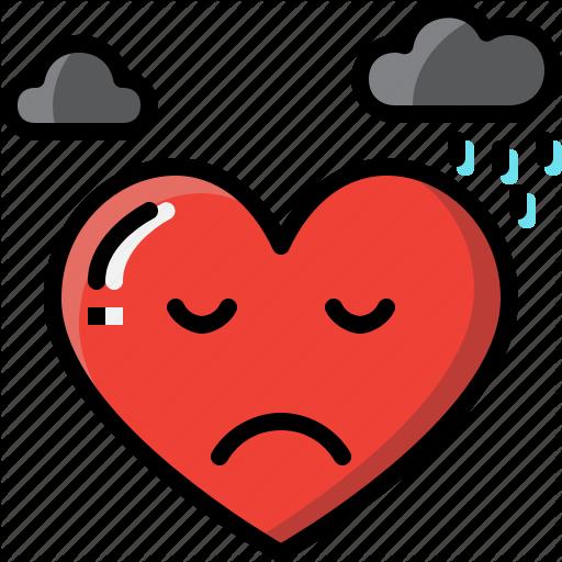 Emoji emotion feeling heart love sad valentine icon