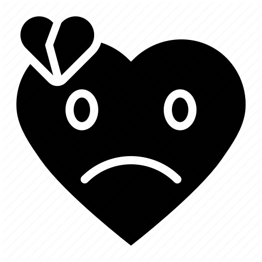 Emoji emoticon heart heartbreak sad icon