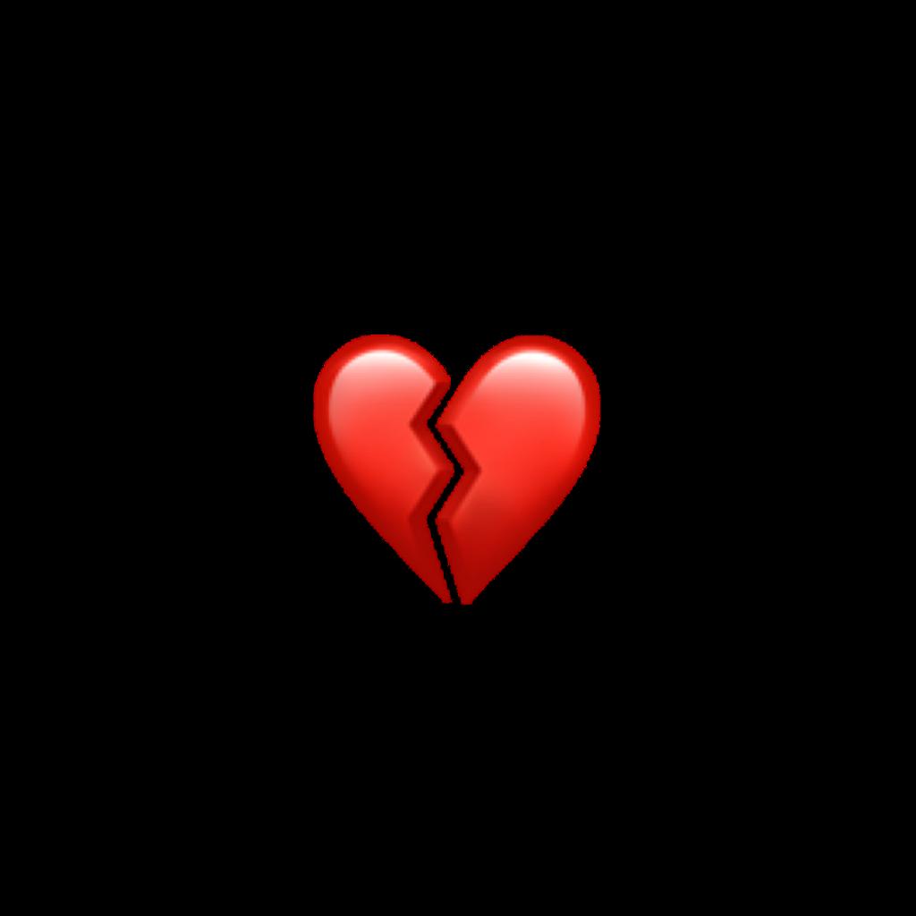sad broken brokenheart emoji heart red tumblr aesthetic