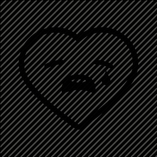 Emoji, heart, love, romance, sad, tears, valentine icon - Sad Heart Emoji