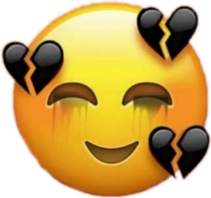 heartbreak emoji png  Sad Face Broken Heart Emoji