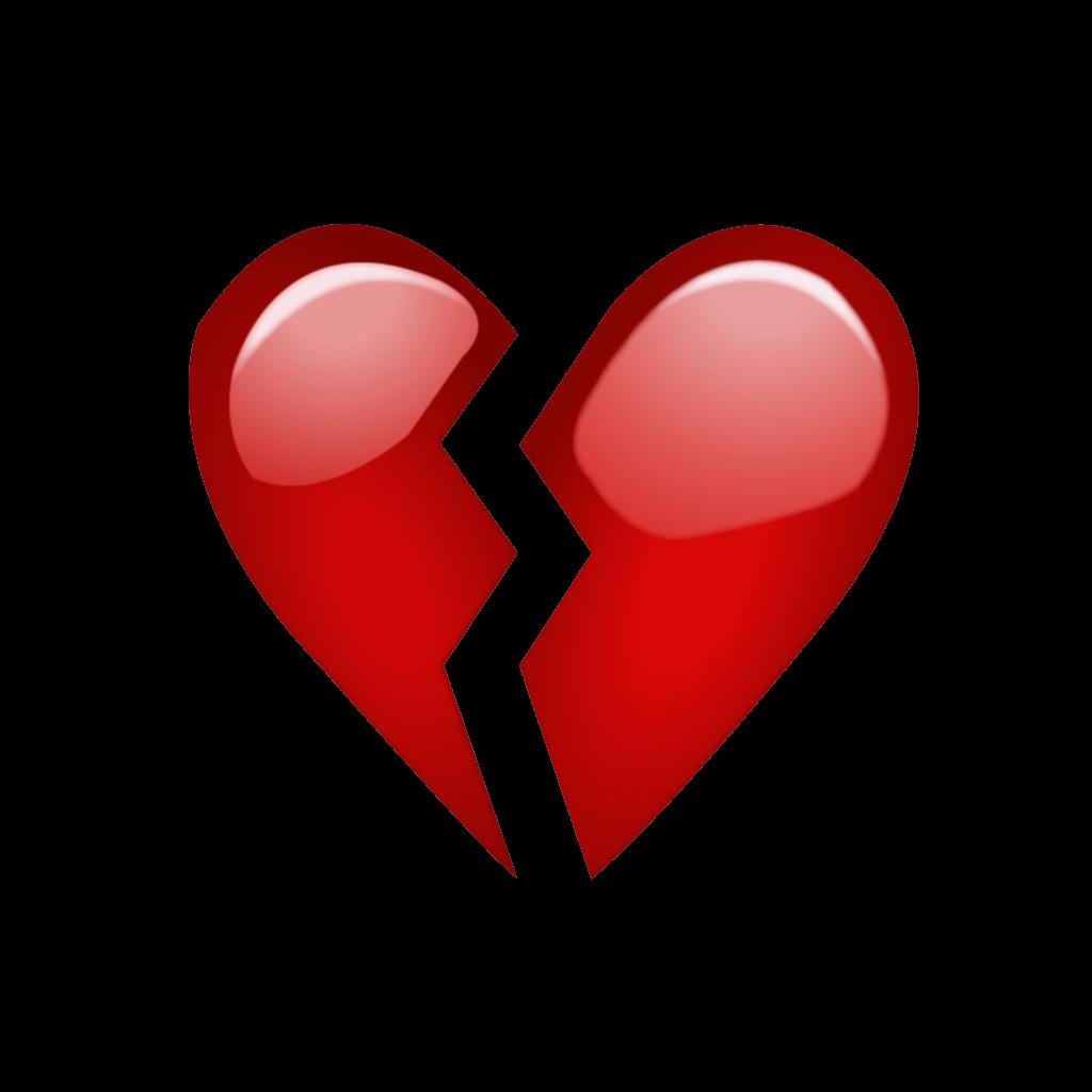 My heartbroken emoji   red heartbroken brokenheartemo