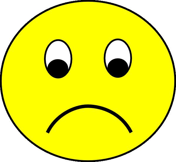 Sad Smiley Clip Art at Clkercom  vector clip art online