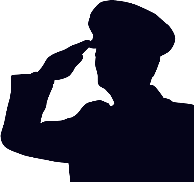 Salute Soldier Military Silhouette Clip Art  Soldier
