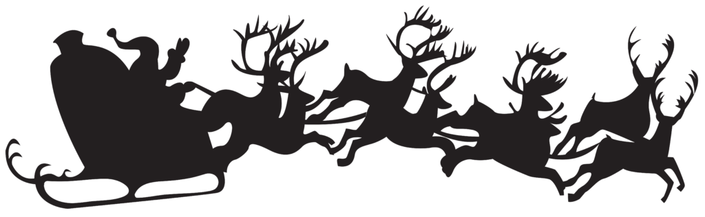 santa and reindeer silhouette clipart  Clipground