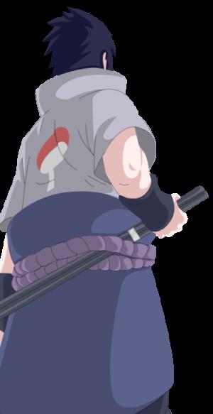 Sasuke Render by Laxifax on DeviantArt - Sasuke Back