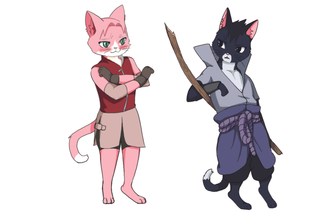 Cats Sasusaku by Anayroz on DeviantArt