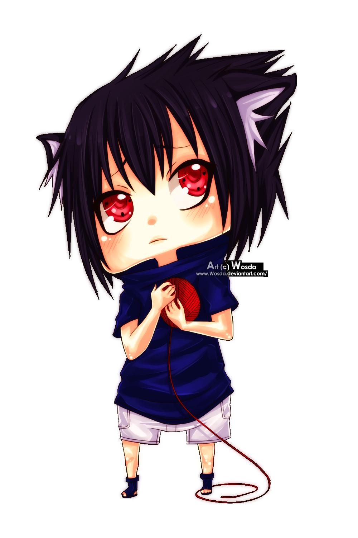 Sasuke Neko Chibi by Wosda on DeviantArt - Sasuke Cat
