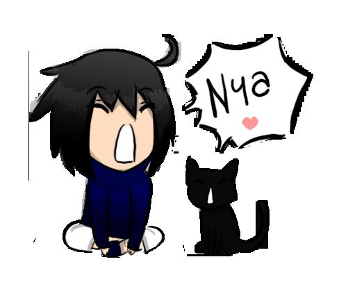sasuke and kitty by malengil on DeviantArt
