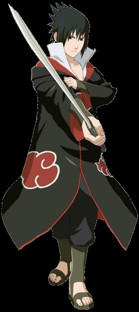 cool anime character Sasuke Uchiha