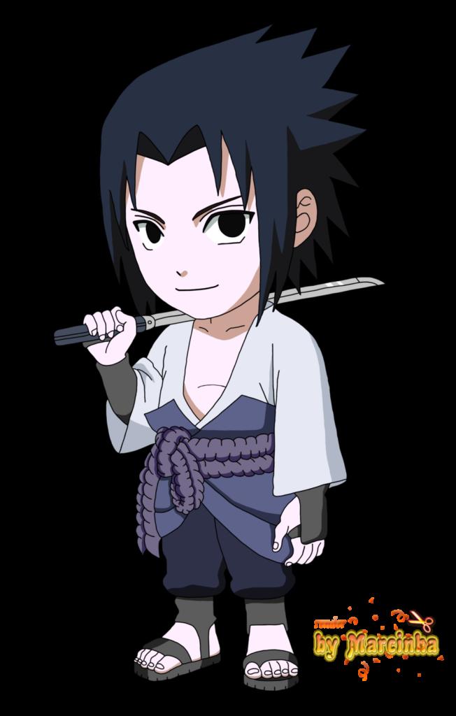 Chibi  Sasuke by Marcinha20  アニメーション サスケ 插画