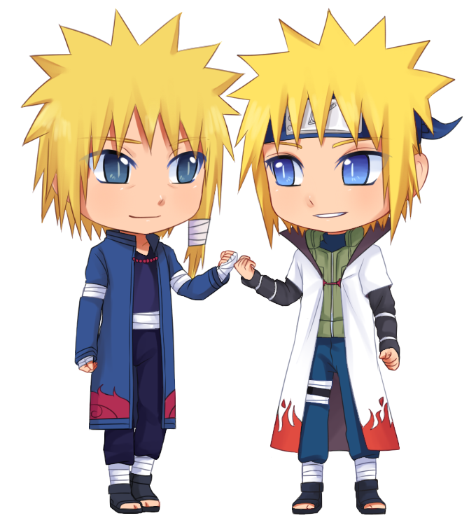 Minato and his father by RarityPrincess