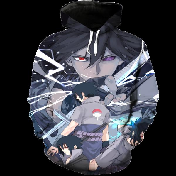 Sasuke 3D Hoodie  Hoodies Sasuke Sweatshirts