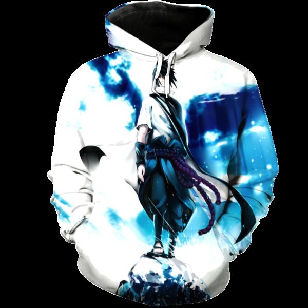 Sasuke 3D Hoodie  Anime hoodie Sasuke Hoodies