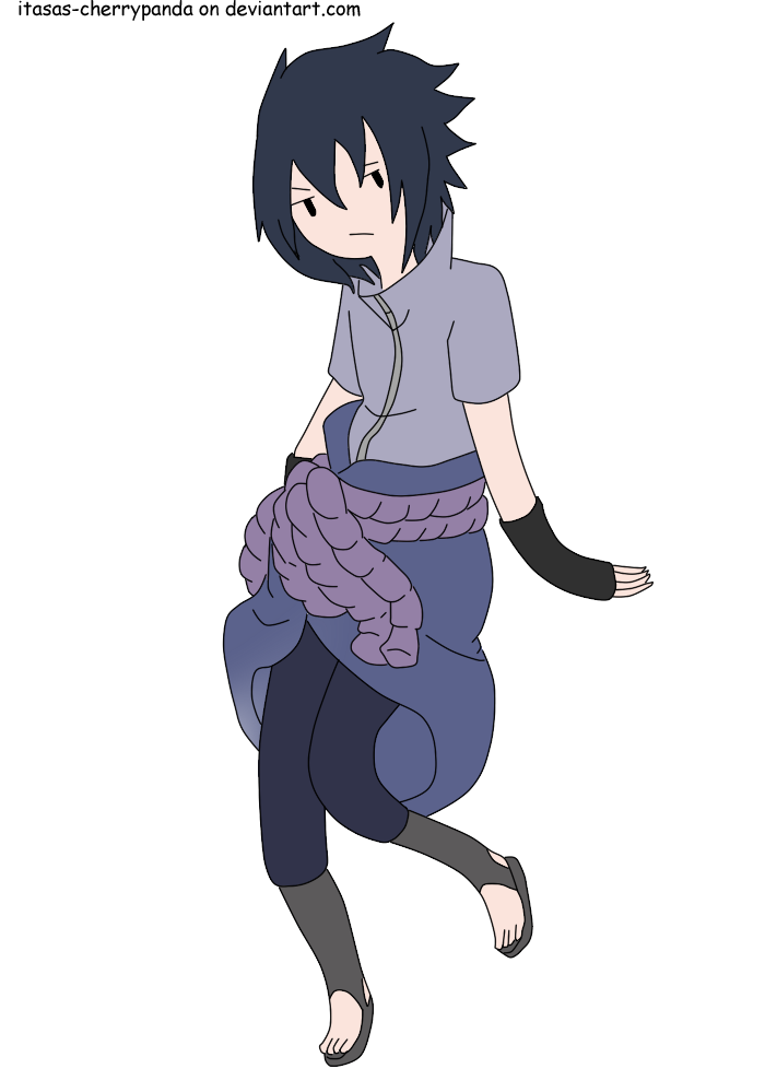 Sasuke Uchiha adventure time style by itasasu2002 on